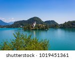 lake bled with st. mary's...   Shutterstock . vector #1019451361