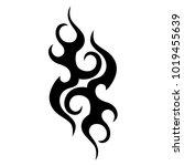 tattoo tribal vector design.... | Shutterstock .eps vector #1019455639