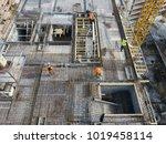 construction site workers  ... | Shutterstock . vector #1019458114