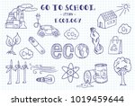 ecology. hand sketches on the... | Shutterstock .eps vector #1019459644