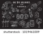 ecology. hand sketches on the...   Shutterstock .eps vector #1019461009