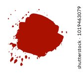 abstract isolated red vector... | Shutterstock .eps vector #1019463079