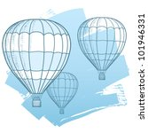drawing illustration of hot air ... | Shutterstock .eps vector #101946331