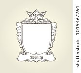 blank template of coat of arms  ... | Shutterstock .eps vector #1019467264
