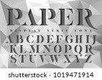 display stencil serif antique... | Shutterstock .eps vector #1019471914