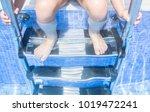 child girl sitting on the... | Shutterstock . vector #1019472241