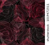 elegant seamless pattern with... | Shutterstock .eps vector #1019472511