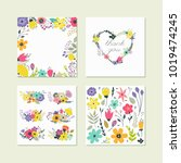 vector collection for design... | Shutterstock .eps vector #1019474245
