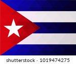 cuba flag vector illustration.... | Shutterstock .eps vector #1019474275