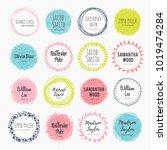 vector set of scribble circles. ...   Shutterstock .eps vector #1019474284