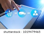 logistics and transportation... | Shutterstock . vector #1019479465