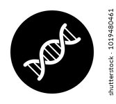 dna circle icon. black  round ... | Shutterstock .eps vector #1019480461