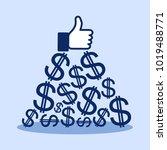 promotion on interent social... | Shutterstock .eps vector #1019488771