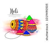 vector illustration or greeting ... | Shutterstock .eps vector #1019490505