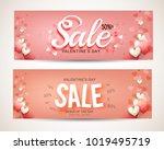 header or banner of valentines... | Shutterstock .eps vector #1019495719