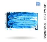 blue brush stroke and texture.... | Shutterstock .eps vector #1019496484