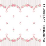 seamless pattern with garlands... | Shutterstock .eps vector #1019500411