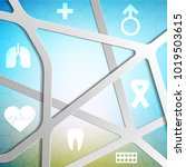 health technology vector blue...   Shutterstock .eps vector #1019503615