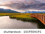 beautiful sunrise at potter... | Shutterstock . vector #1019504191