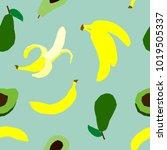 vegan menu   avocado and...   Shutterstock .eps vector #1019505337