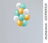 vector realistic bunch helium... | Shutterstock .eps vector #1019505514