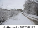 winter landscape with snow   Shutterstock . vector #1019507179
