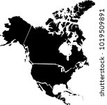 vector map of north america.... | Shutterstock .eps vector #1019509891