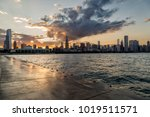 Chicago Skyline On Sunset