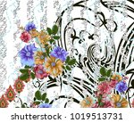 beautiful colorful background... | Shutterstock . vector #1019513731