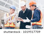 group of civil engineering and... | Shutterstock . vector #1019517709
