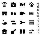 origami style icon set  ... | Shutterstock .eps vector #1019525761