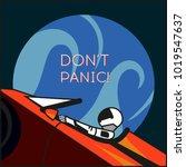 elon musk's tesla roadster in... | Shutterstock .eps vector #1019547637
