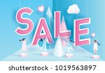sale text on paper art... | Shutterstock .eps vector #1019563897