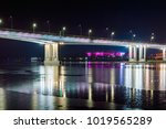 night view of illuminated... | Shutterstock . vector #1019565289