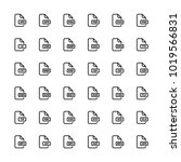 download files set line art... | Shutterstock .eps vector #1019566831