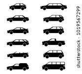 vector image of car body types  ... | Shutterstock .eps vector #1019567299