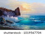 Original Oil Painting Of  Sea...