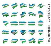 uzbekistan flag  vector... | Shutterstock .eps vector #1019571625