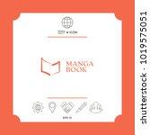 elegant logo with book symbol... | Shutterstock .eps vector #1019575051