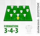 football players lineups ... | Shutterstock .eps vector #1019575549