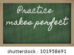 Handwriting Blackboard Writing...