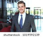 portrait of happy young...   Shutterstock . vector #1019592139