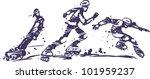 boys on roller skates | Shutterstock .eps vector #101959237
