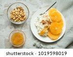 healthy light breakfast ... | Shutterstock . vector #1019598019