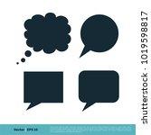 blank speech bubble set icon...   Shutterstock .eps vector #1019598817