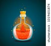 bottle of magic elixir with...