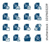 set of documents icons. vector... | Shutterstock .eps vector #1019603239