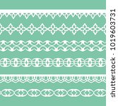 set of lacy paper ornaments | Shutterstock .eps vector #1019603731