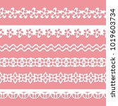 set of seamless floral paper... | Shutterstock .eps vector #1019603734