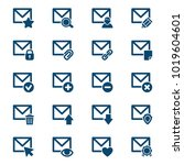 set of mail icons. vector... | Shutterstock .eps vector #1019604601